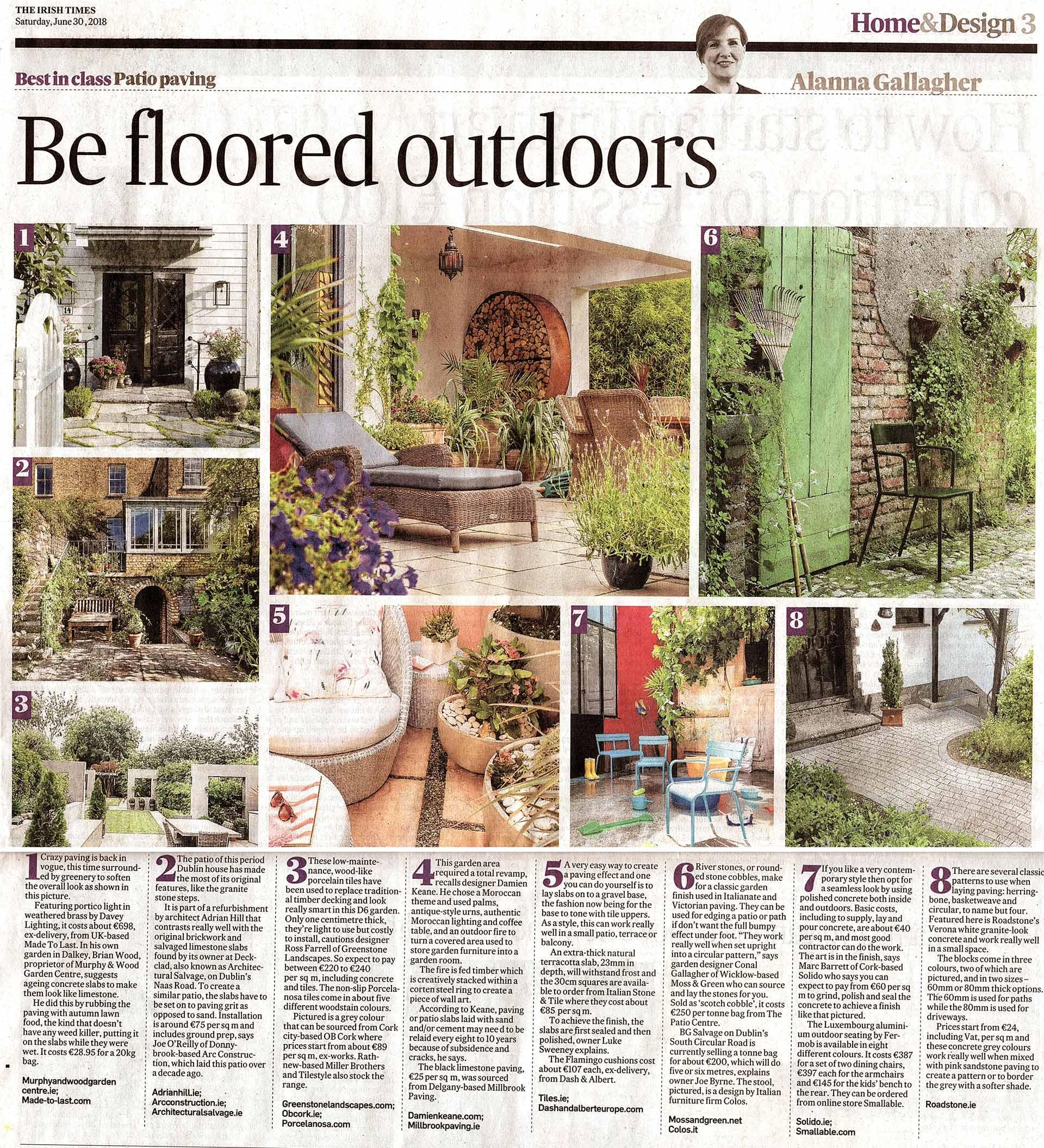gardening story in the irish times June 29th 2018